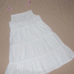 Crazy 8 White Twirly Gauzy Summer Girls Dress Sz 7